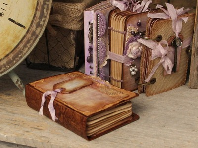 """""""Southern Charm"""" Recycled Box Covers using Stack the Deck Binding Printable Mini Book"""