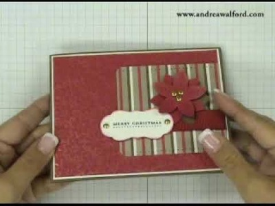 Stampin' Up! Tutorial: Debossed Shimmer Paint Christmas Card