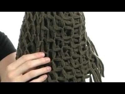 Steve Madden - Fishnet Infinity Scarf with Fringe  SKU:#7837527