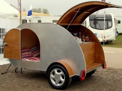Teardrop camper caravan trailer build how to