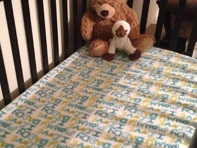 Tutorial: Sewing Crib Sheets - Fleece