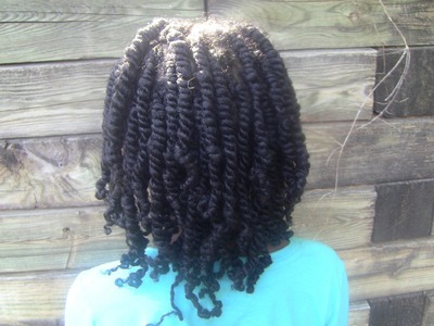Two Strand Twists. taking care of my daughter's natural hair.