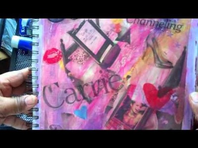 What is Art Journaling? an art journey through my art journal
