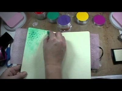 2 minute tutorial: pan pastels with versamark ink