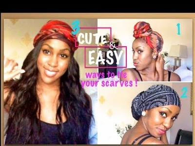 3 EASY & CUTE Ways to Wear your Turban.Headwrap | Tutorial