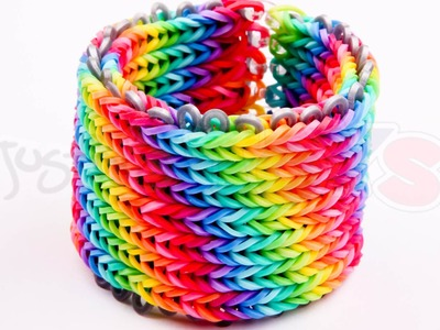 Alpha Loom - Seven 7 row Fishtail Rainbow Loom Bracelet