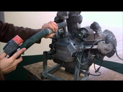 BackOnTwo - Soda Blast of a 1982 Ducati 900SSD engine