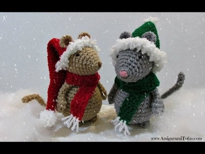 Christmas Hat and Scarf For Mouse
