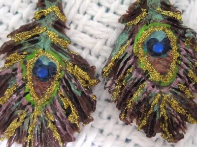 Clay Peacock Feather Jewelry