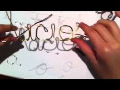 Custom Wire Hangers - Difficult Letters part 2
