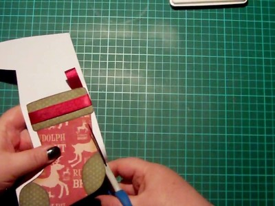 Digital Stamp 3 Ways - #1 Shaped Card (Christmas Stocking)