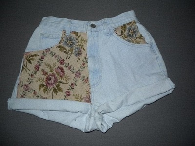DIY: High Waisted Tapestry Shorts!