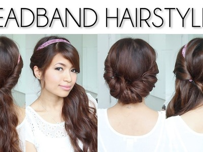 ♥ Easy Everyday Headband Hairstyles for Short and Long Hair Tutorial