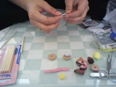 Fimo. Polymer Clay donut tutorial, deco den