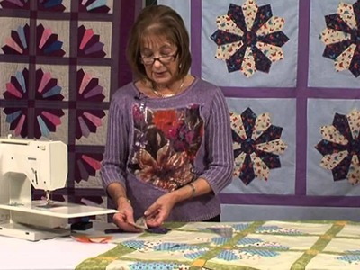 Grandmothers Fan patchwork block with Valerie Nesbitt