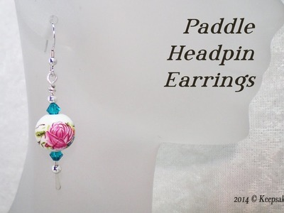 Hammered Paddle Headpin Earrings Tutorial