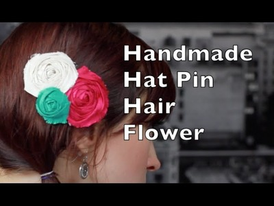 Handmade Hat Pin Trio Hair Flower Tutorial