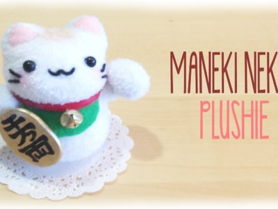 How make Make Lucky Cat Plushie - Maneki Neko Easy Sock Sewing Project