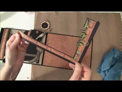 How to build a photo mini album with G45 Olde Curiosity Shoppe paper collection part 5b