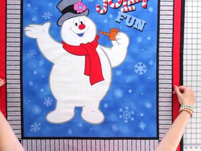 How to Cut a Quilt Panel featuring Frosty the Snowman - Fat Quarter Shop