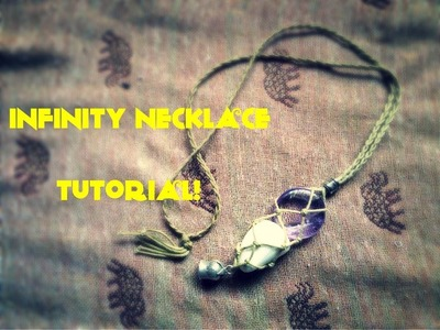 How to Macramé tutorial - interchangeable. swap stone necklace (infinity necklace sack)