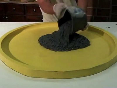 How to make a Concrete Terrazzo Table GFRC - DIY - Easy