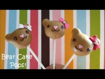 How to Make Bear Cake Pops!