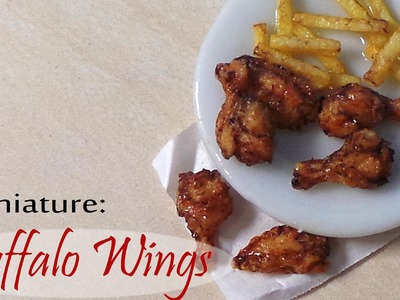 Miniature Buffalo Wings & Fries - Polymer Clay Tutorial