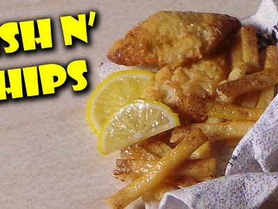 Miniature Fish n' Chips - Polymer Clay Tutorial