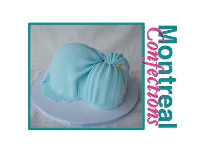 Pregnant Belly Baby Shower Cake - How to decorate