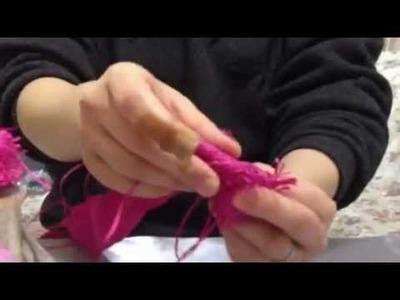 Ribbon cabbage rose