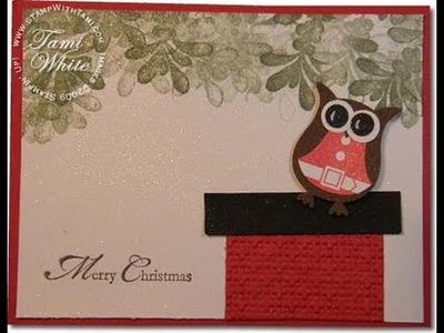 Santa Owl on the Chimney - Stampin' Up Owl Punch