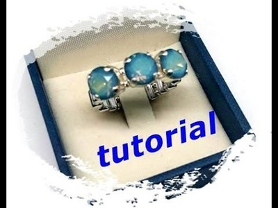 Tutorial perline: come fare un trilogy con swarovski. Eternity trilogy and more.