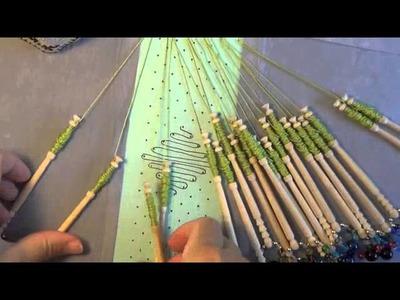 Video #84 Beginner bobbin lace tutorial