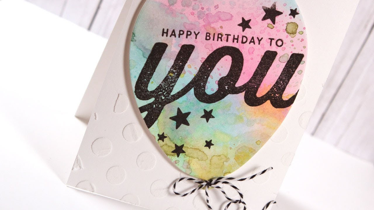 Watercolor Balloon Birthday Card