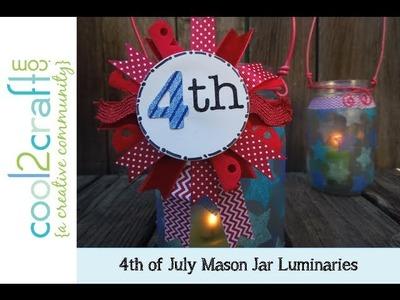 Aleene's Mason Jar Luminaries with Ribbon Medallion by Tiffany Windsor
