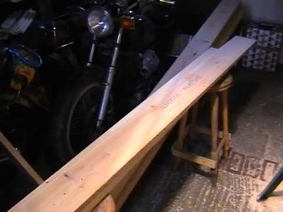 Bowed, Twisted Timber (Lumber) Planing, easy HOW TO