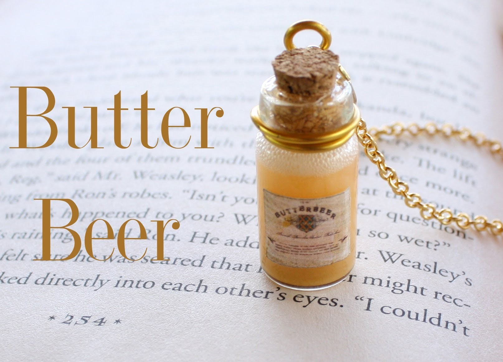 Butterbeer : Harry Potter Potion Ep. # 4 Bottle Charm Tutorial