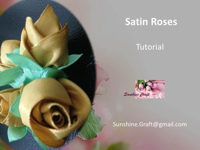 D.I.Y - Making A Satin Roses - Tutorial