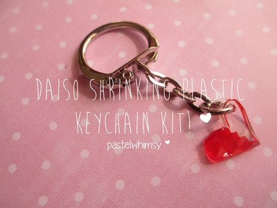 ♡ Daiso Shrinking Plastic Keychain Kit! [Highly Requested!] ♡