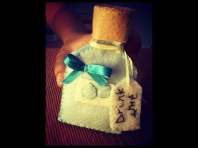 Day 1 of 7 of Alice In Wonderland Plush Tutorial : Drink Me Bottle