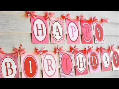 Decoration ideas for birthday party at home