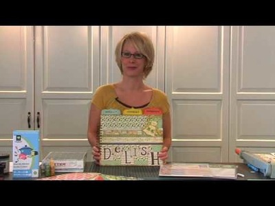 Delish Meal Planner Intro - With From My Kitchen Cricut Cartridge