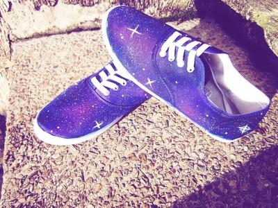 DIY Galaxy Shoes. Hazlo tu mismo Zapatos Galaxia