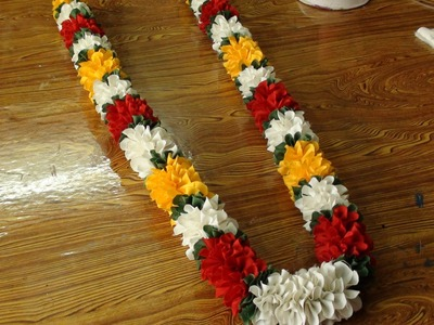 Do it yourself a polyester cloth garland