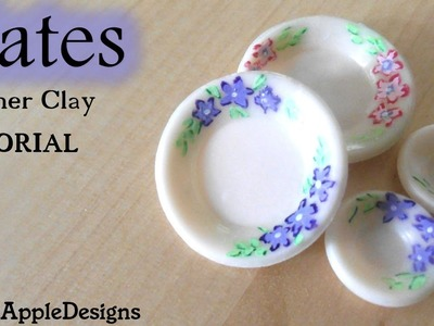 EASY Miniature Polymer Clay Plates TUTORIAL