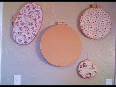 Embroidery Hoop Design Wall and Decoration