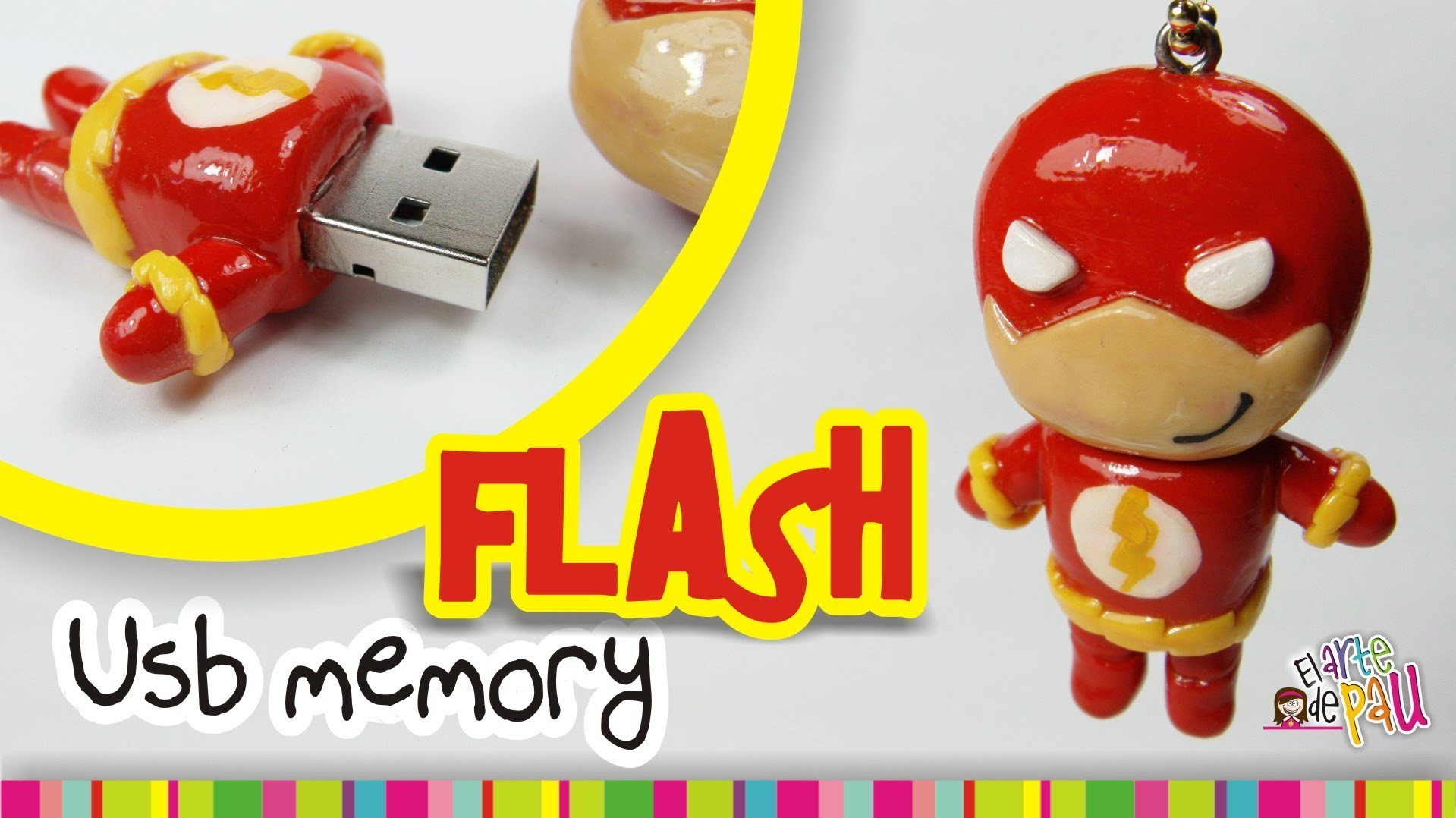 FLASH USB polymer clay tutorial . Flash USB de Arcilla polimérica