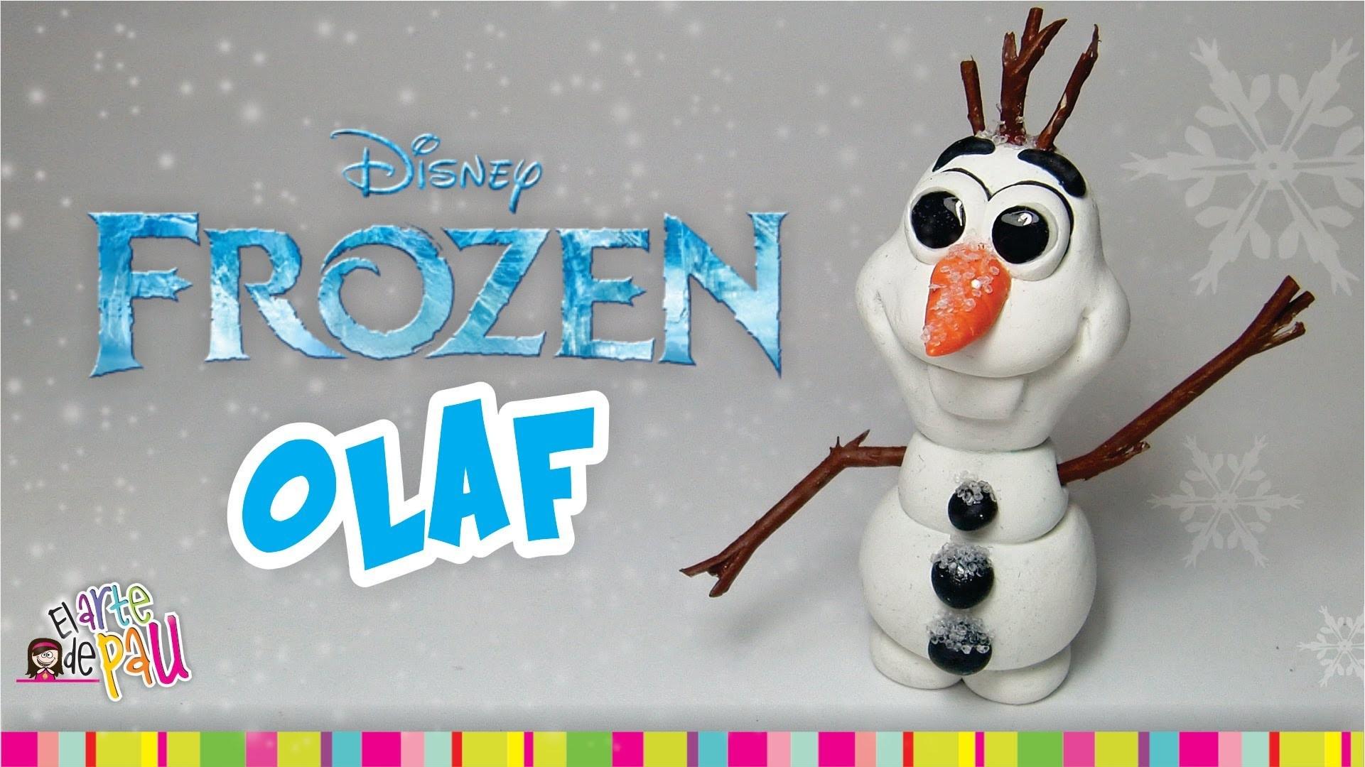 """FROZEN """"OLAF"""" Polymer Clay. OLAF Arcilla Polimérica FROZEN"""