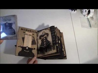 Graphic 45 Curtain Call photo album part 1